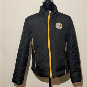 NFL team Steelers quilted jacket winter medium
